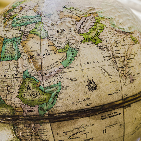 Globe of the Middle East