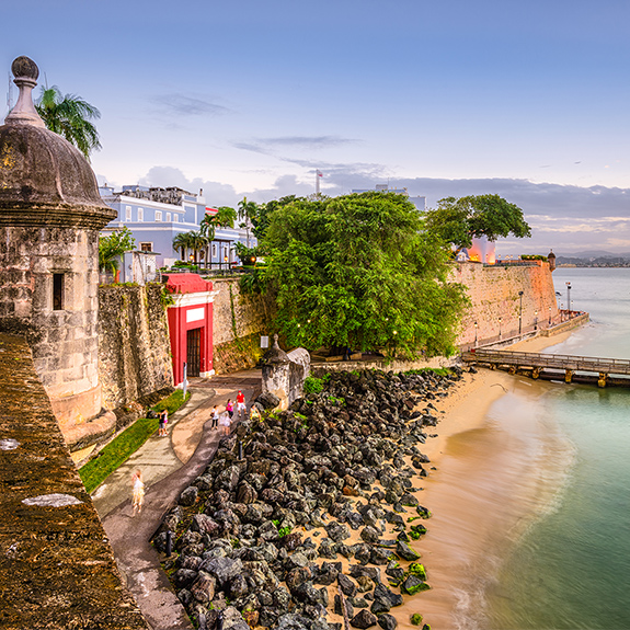 Fort along the ocean in Puerto Rico